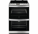 A.E.G. 60cm Double Oven Electric Cooker - CCS6741ACM