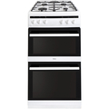 Amica 50cm Double Oven Gas Cooker - AFG5500WH