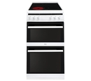 Amica 50cm Twin Cavity Electric Cooker - AFC5100WH
