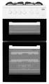 Beko 50cm Twin Cavity Gas Cooker - KDG581W