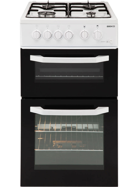 Beko 50cm Twin Cavity Gas Cooker Bdg581nw West