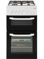 Beko 50cm Twin Cavity Gas Cooker - BDG581W