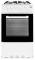 Beko 50cm Single Cavity Gas Cooker -  KSG580W