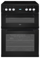 Beko 60cm Double Oven Electric Cooker - EDC633K