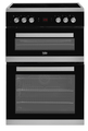 Beko 60cm Double Oven Electric Cooker - JDC673X