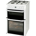 Beko 60cm Double Oven Gas Cooker - BDVG694WP