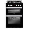 Belling 60cm Double Oven Dual Fuel Cooker - COOKCENTRE 60DF BLK