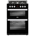Belling 60cm Double Oven Gas Cooker - COOKCENTRE 60G BLK