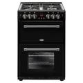 Belling 60cm Double Oven Gas Cooker - FARMHOUSE 60G BLK