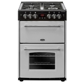 Belling 60cm Double Oven Gas Cooker - FARMHOUSE 60G SIL