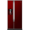 Haier 90cm American Fridge Freezer - HRF663CJR (Red Glass)