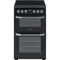 Hotpoint 50cm Double Oven Ceramic Cooker - HD5V93CCB