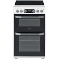 Hotpoint 50cm Double Oven Ceramic Cooker - HD5V93CCW
