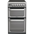 Hotpoint 50cm Double Oven Ceramic Cooker - HUE52GS