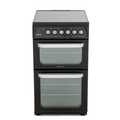 Hotpoint 50cm Double Oven Electric Cooker - HUE52KS
