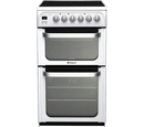 Hotpoint 50cm Double Oven Electric Cooker - HUE53PS