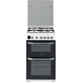 Hotpoint 50cm Double Oven Gas Cooker - HD5G00CCW