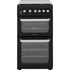 Hotpoint 50cm Double Oven Gas Cooker - HUG52K (Ultima)