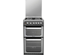 Hotpoint 50cm Double Oven Gas Cooker - HUG52X (Ultima)