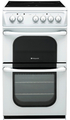 Hotpoint 50cm Twin Cavity Electric Cooker - 52TCWS
