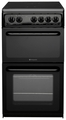 Hotpoint 50cm Twin Cavity Electric Cooker - HAE51KS