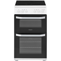 Hotpoint 50cm Twin Cavity Electric Cooker - HD5V92KCW