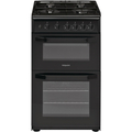 Hotpoint 50cm Twin Cavity Gas Cooker - HD5G00KCB