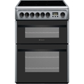 Hotpoint 60cm Double Oven Ceramic Cooker - DCN60S
