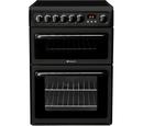 Hotpoint 60cm Double Oven Ceramic Cooker - HAE60K