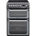 Hotpoint 60cm Double Oven Ceramic Cooker - HUE61GS