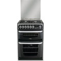 Hotpoint 60cm Double Oven Dual Fuel Cooker - CH60DHKF