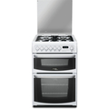 Hotpoint 60cm Double Oven Dual Fuel Cooker - CH60DHWF