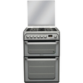 Hotpoint 60cm Double Oven Dual Fuel Cooker - HUD61GS