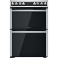 Hotpoint 60cm Double Oven Electric Cooker - HDM67V8D2CX