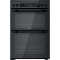 Hotpoint 60cm Double Oven Electric Cooker - HDM67V92HCB