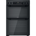 Hotpoint 60cm Double Oven Electric Cooker - HDM67V9CMB
