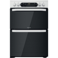 Hotpoint 60cm Double Oven Electric Cooker - HDM67V9CMW