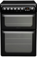 Hotpoint 60cm Double Oven Electric Cooker - HUE61K (Ultima)