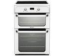 Hotpoint 60cm Double Oven Electric Cooker - HUI612P