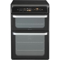 Hotpoint 60cm Double Oven Electric Cooker - HUI62TK