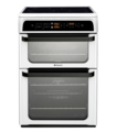Hotpoint 60cm Double Oven Electric Cooker - HUI62TP