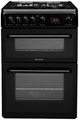Hotpoint 60cm Double Oven Gas Cooker - HAG60K