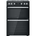 Hotpoint 60cm Double Oven Gas Cooker - HDM67G0C2CB