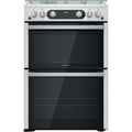 Hotpoint 60cm Double Oven Gas Cooker - HDM67G0C2CX