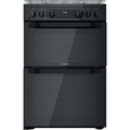 Hotpoint 60cm Double Oven Gas Cooker - HDM67G0CCB