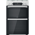 Hotpoint 60cm Double Oven Gas Cooker - HDM67G0CCW