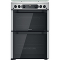 Hotpoint 60cm Double Oven Gas Cooker - HDM67G0CCX