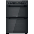 Hotpoint 60cm Double Oven Gas Cooker - HDM67G0CMB