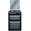 Hotpoint 60cm Double Oven Gas Cooker - HUG61K