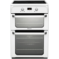 Hotpoint 60cm Double Oven Induction Cooker - HUI612P